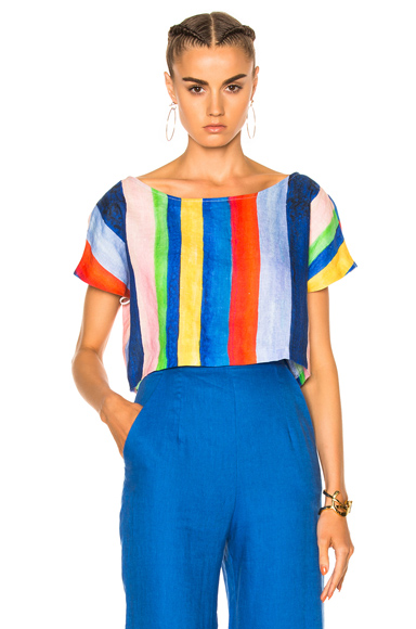 Mara Hoffman Easy Top in Blue, Red, Stripes. - size XS (also in S)