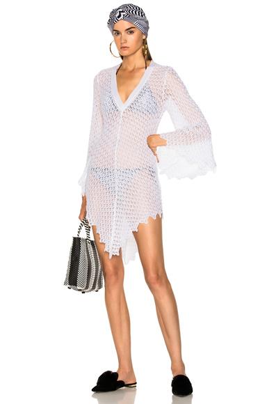 Missoni Mare Short Beach Dress in White