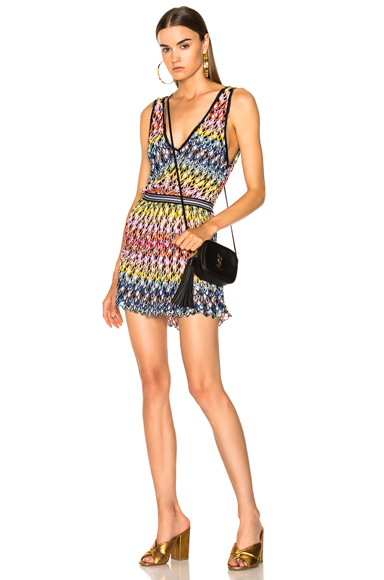 Missoni Mare Short Beach Dress in Black, Blue, Pink, Yellow