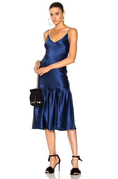 Maggie Marilyn Don't Underestimate Me Silk Dress in Blue