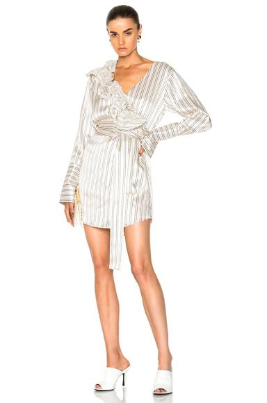 Maggie Marilyn Somewhere Shirt Dress in Neutrals, Stripes, White