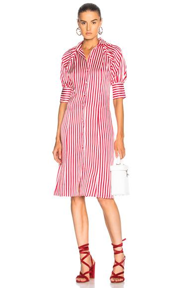 Maggie Marilyn Toni's Shirt Dress in Pink, Stripes
