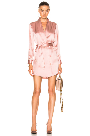 Michelle Mason Belted Dress Jacket in Pink