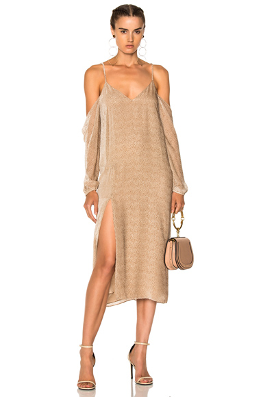 Michelle Mason Drop Shoulder Slip in Neutrals