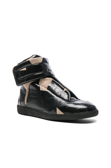 Maison Margiela Future High Top Sneakers in Black, Abstract. - size 41 (also in 42,43,45)