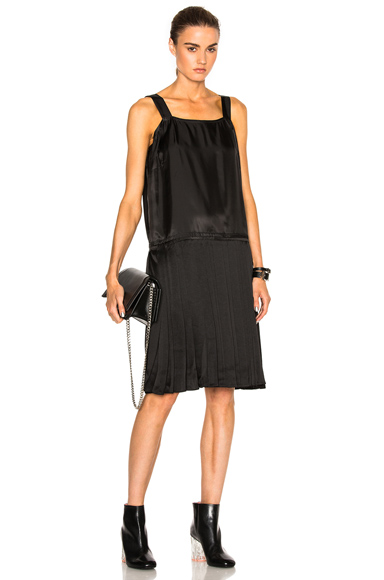 Maison Margiela Heavy Satin Dress in Black