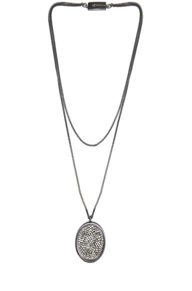 MAISON MARTIN MARGIELA   Pendant Necklace in Gunmetal