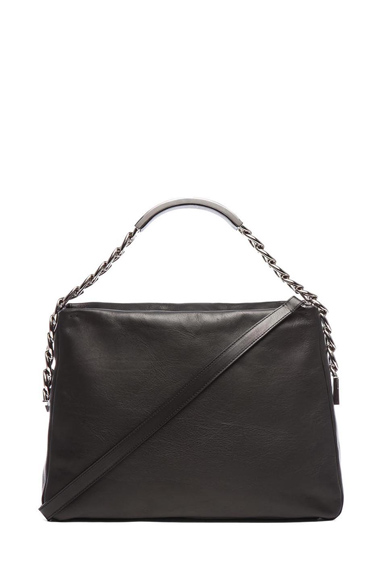 MAISON MARTIN MARGIELA | Chain Shoulder Bag in Black