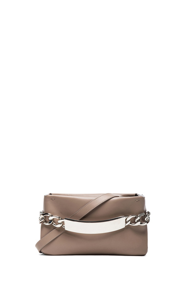 MAISON MARTIN MARGIELA | Leather Chain Clutch in Taupe