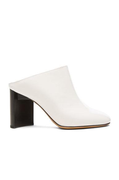 Maison Margiela Leather Mules in White