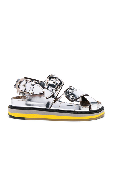 Maison Margiela Mirror Leather Sandals in Metallics