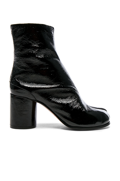 Maison Margiela Patent Boots in Black