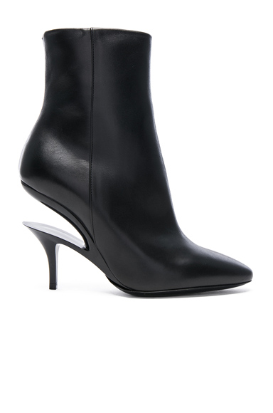 Maison Margiela Cut Out Leather Boots in Black