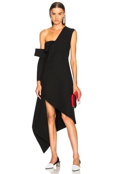 Monse Double Faced Wool Dress in Black