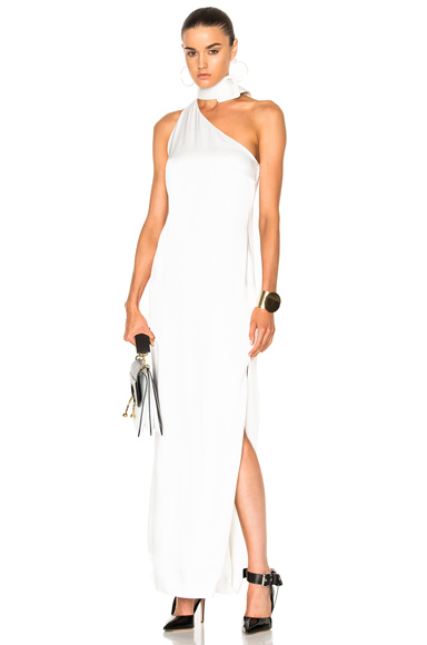 Monse Crepe Envers Satin Gown in White