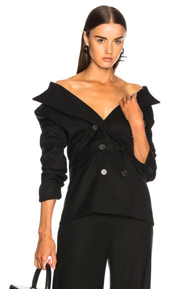 Monse for FWRD Tuxedo Wool Jacket in Black