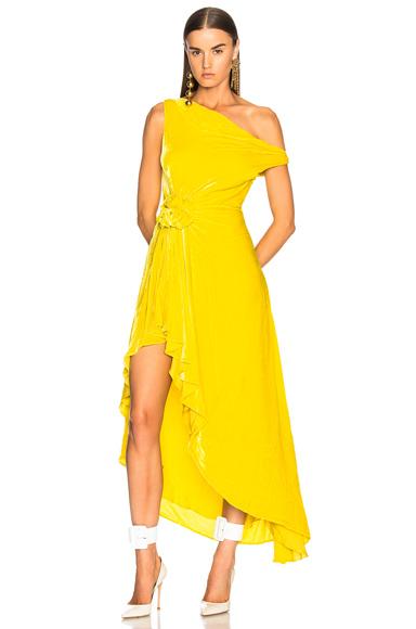 Monse Velvet Hi Lo Top in Yellow