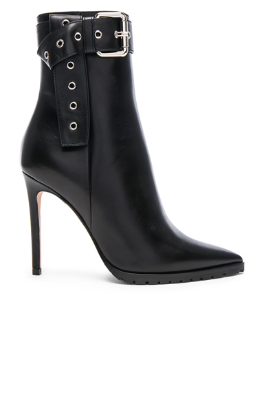 Monse Leather Donna Booties in Black