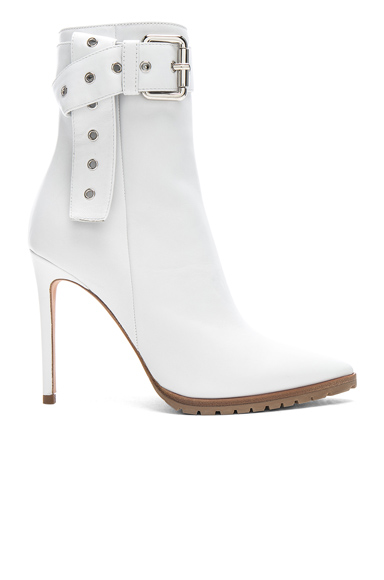 Monse Leather Donna Booties in White