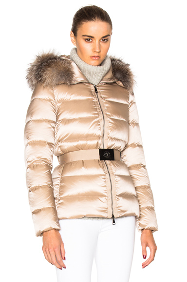 Moncler Tatie Giubbotto Jacket in Neutrals