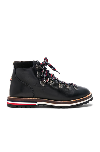 Moncler Leather Blanche Boots in Black