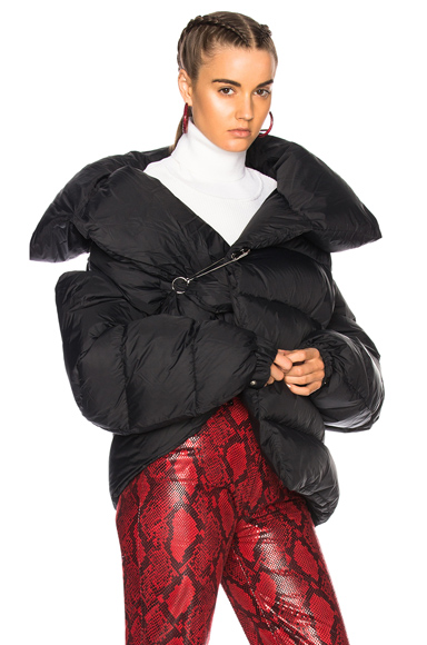 Marques ' Almeida Waterproof Asymmetric Puffa Jacket in Black