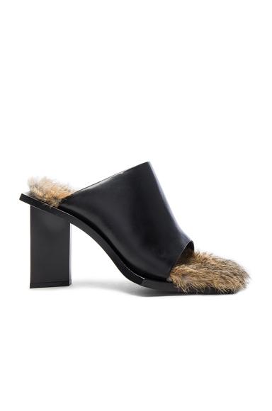 Marques ' Almeida Rabbit Fur Mules in Black