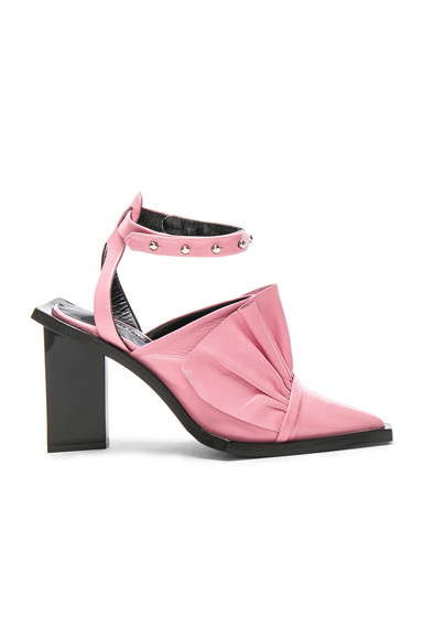Marques ' Almeida Point Frill Leather Heels in Pink