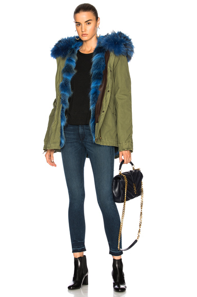 Mr & Mrs Italy Army Parka in Blue, Green