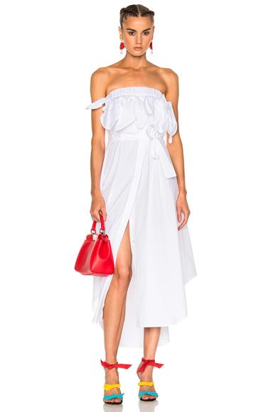 MSGM Cotton Dress in White