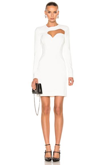 Mugler Viscose Cady Dress in White
