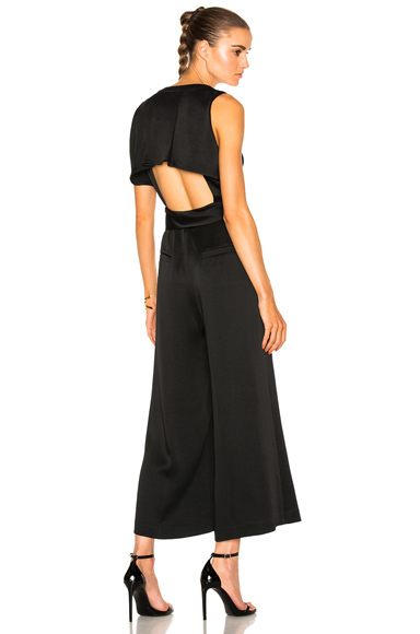 Marissa Webb Connie Satin Crepe Jumper in Black