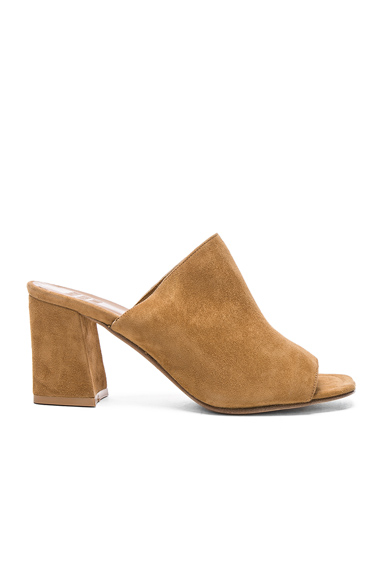 Maryam Nassir Zadeh for FWRD Suede Penelope Mules in Neutrals