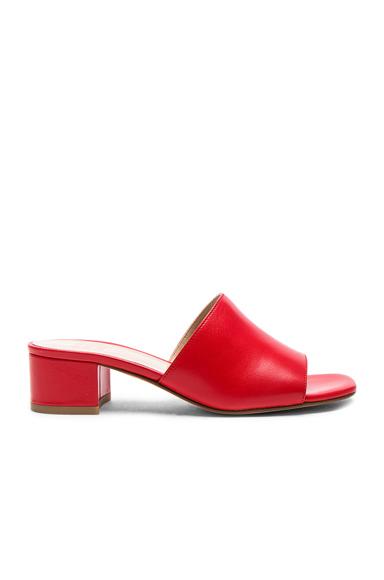 Maryam Nassir Zadeh Leather Sophie Slides in Red