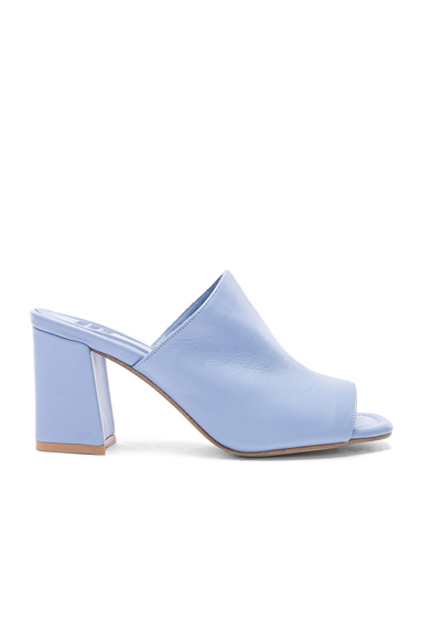 Maryam Nassir Zadeh Leather Penelope Mules in Blue