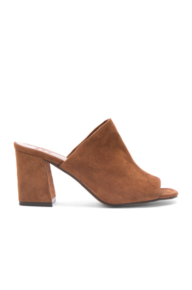 Maryam Nassir Zadeh Suede Penelope Mules in Brown