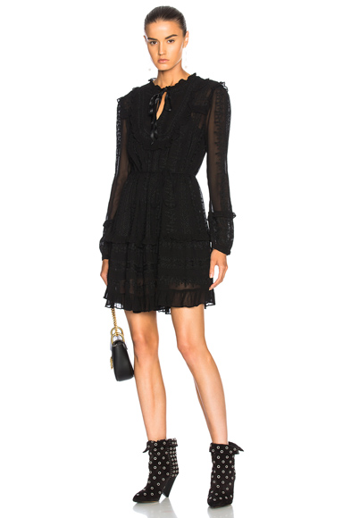 Needle & Thread Rose Chain Dress in Black