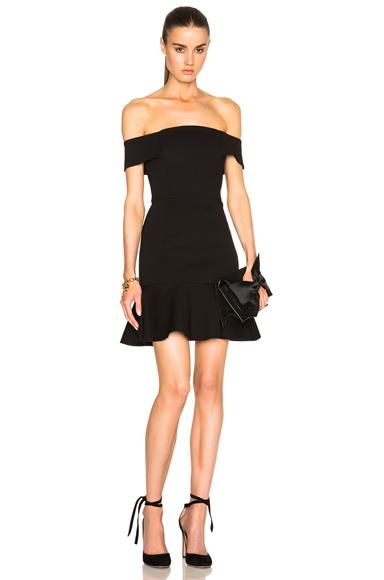NICHOLAS Off Shoulder Mini Dress in Black
