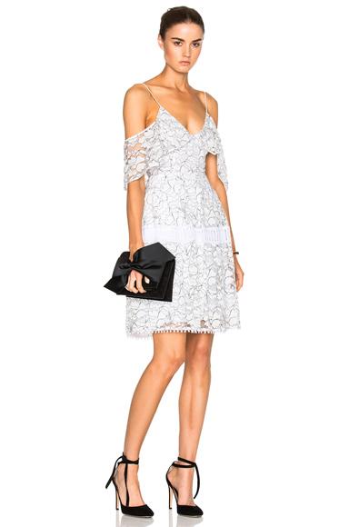 NICHOLAS Basque Dress in White