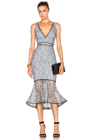 NICHOLAS Plunge Dress in Gray