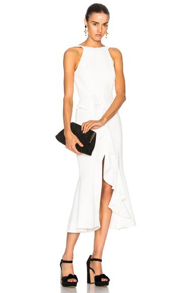 NICHOLAS Ruffle Dress in White