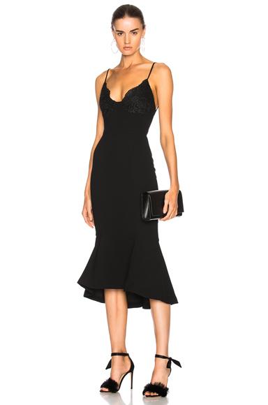 NICHOLAS Tuck Hem Bra Dress in Black