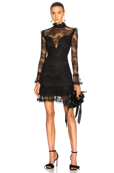 NICHOLAS Thalia Lace Dress in Black