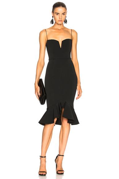 NICHOLAS Flip Hem Bra Bandage Dress in Black