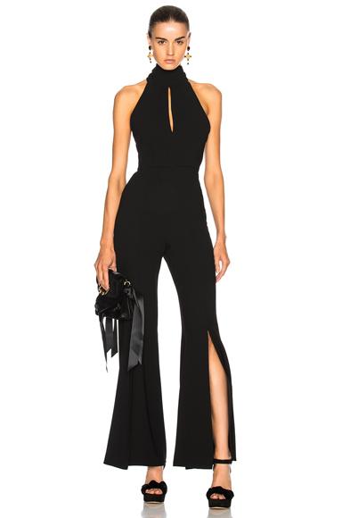 NICHOLAS Sleeveless Jumpsuit in Black