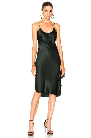 NILI LOTAN for FWRD Short Cami Dress in Green
