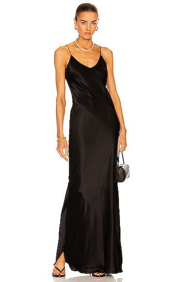 NILI LOTAN Cami Gown in Black