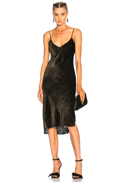 NILI LOTAN Short Cami Dress in Black, Metallics
