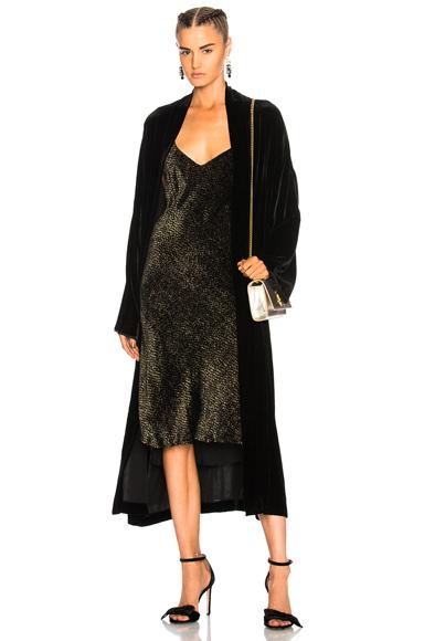 NILI LOTAN Muna Velvet Kimono in Black