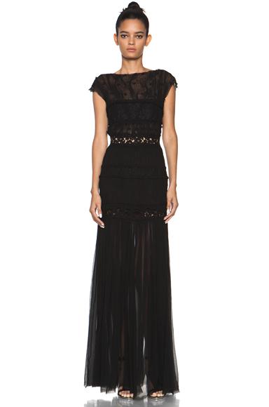 NINA RICCI | Long Gown in Black